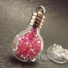 Swarovski Crystal Rose AB in Virgo Astrology Mini Bottle Vial Charm Pendant