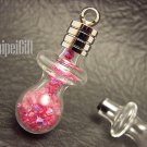 Swarovski Crystal Rose AB in Baby Pacifier Mini  Bottle Vial Charm Pendant