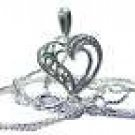 Diamond Solid Sterling LOVE in Heart Talking Pendant