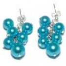 Blue Seashell Pearl Earrings