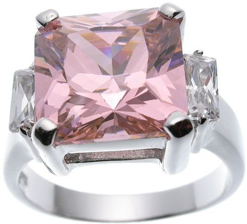 Rhodium Plated Jlo Princess Wedding Ring (any size)