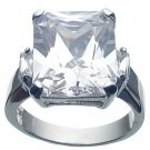 Rhodium Plated Sterling Silver White Jlo Wedding Ring (any size)
