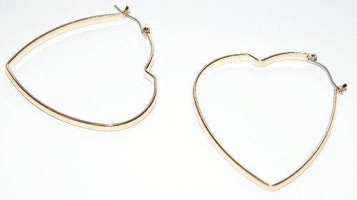 14K Gold Bonded Heart Hoop Earring