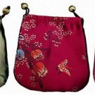 Three Silken Chinese Pattern Jewelry Pouches