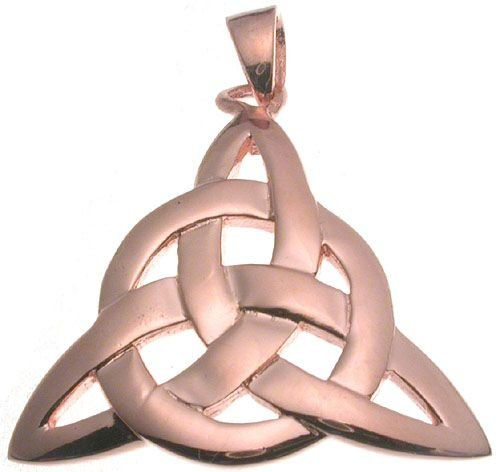 18K Rose Gold Plated Celtic Circle of Life Pendant