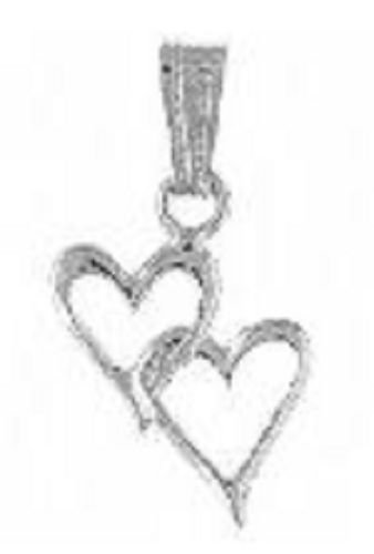 Linked Double Hearts Silver Plated Pendant