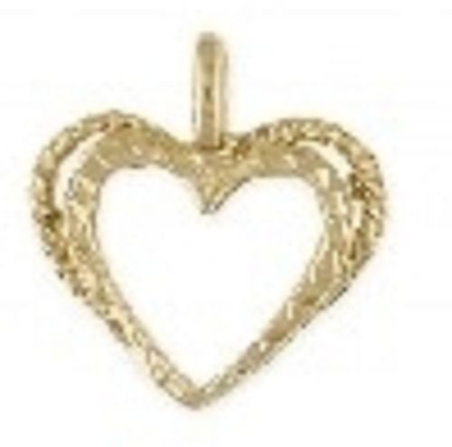 Double Hearts 24k Gold PLated Pendant