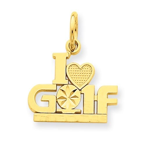 14K I LOVE GOLF Pendant