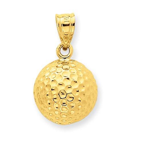 14K Gold Golf Ball Charm