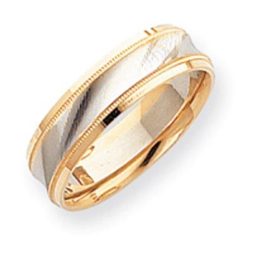 14K Gold Two Tone Wedding Band