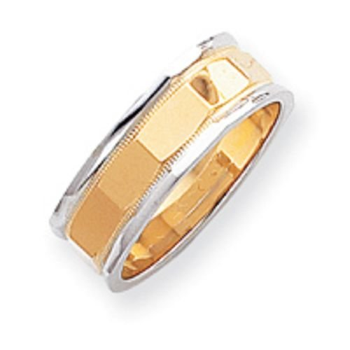 14K Gold Two Tone Wedding Band