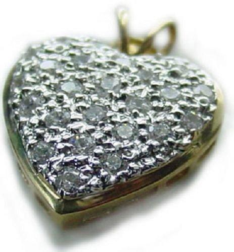 .5 tcw Diamond 14K Gold Heart Pendant