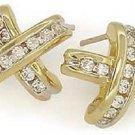 X-shaped 1/2 Ct. Diamond Channel Set Earrings