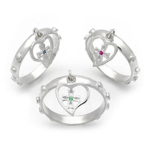 Heart Rosary Ring (any size)