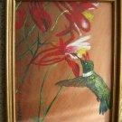 Acrylic painting Hummingbird
