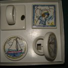 Set of 4 sailing napkin rings