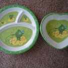 Child's plate and bowl set