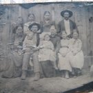 Tintype photo of large family