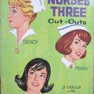Nurses Three 1964 doll cutouts and clothes in original folder