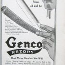 1916 magazine ad for Genco Razors