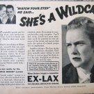 Vintage 1937 Ex-Lax print ad