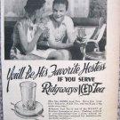 Vintage Ridgways Iced Tea print ad