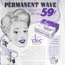 Vintage Chic machineless permanent wave home kit print ad