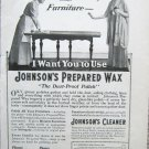 Vintage 1916 Johnson's Prepared Wax print ad
