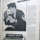"Vintage 1944 print movie ad ""To Have and Have Not"""