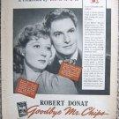 Vintage 1939 print ad Goodbye Mr. Chips Robert Donat