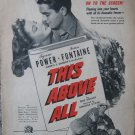 "Vintage 1942 color print ad ""This Above All"" movie"