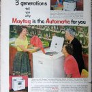 Vintage 1953 Matytag Automatic color print ad