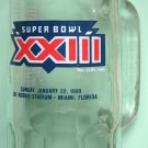 Super Bowl XXIII souvenir collecible Fisher Nuts glass mug 1989