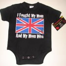 "NEW BLACK ONESIE OR TODDLER TEE ""I FOUGHT MY MOM AND MY MOM WON"""