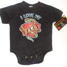 "NEW BLACK ONESIE OR TODDLER TEE ""I LOVE MY DADDY"""