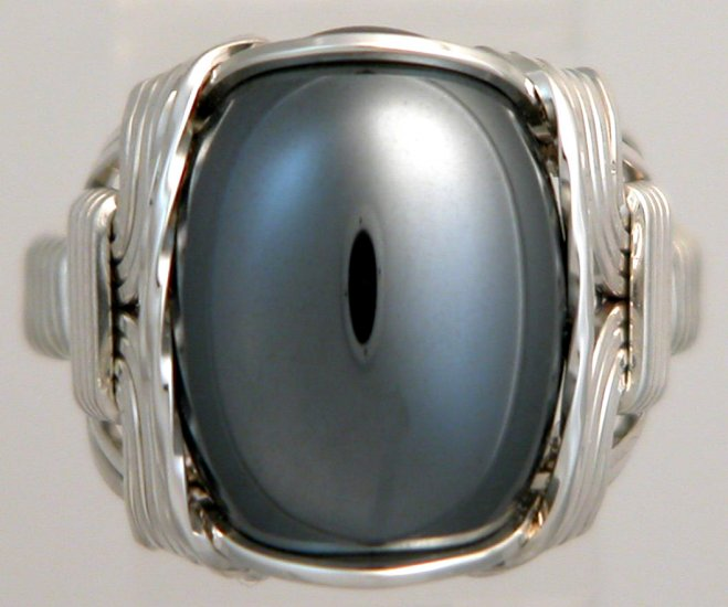 hematite ring 925 sterling silver mens gemstone jewelry