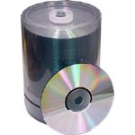 Generic Shiny Silver CDR 80 min - 100 qty
