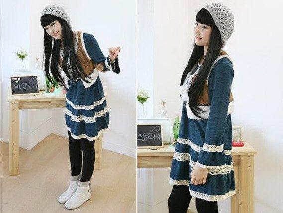 Bohemian Style Long Sleeve Dress (Item no. X08121639-1)