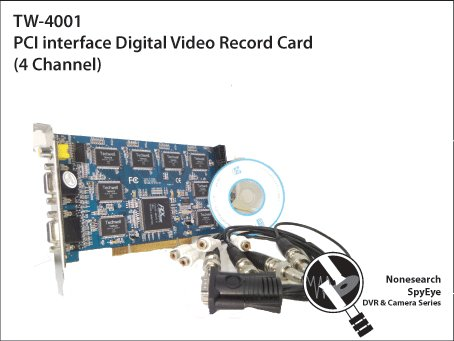 PCI interface Digital Video Record Card (4 Channel) - TW-4001