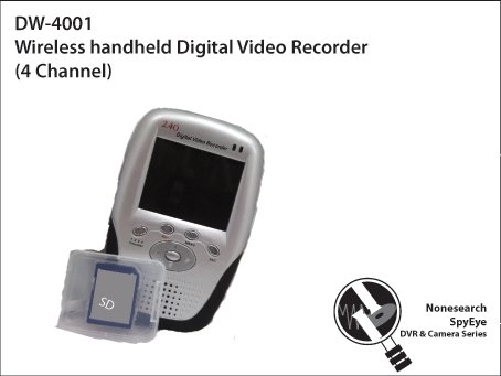 Wireless handheld Digital Video Recorder (4 Channel) - DW-4001