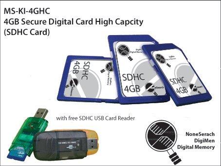 4GB Secure Digital Card High Capcity (SDHC Card) - MS-KI-4GHC