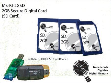 2GB Secure Digital Card (SD Card) - MS-KI-2GSD