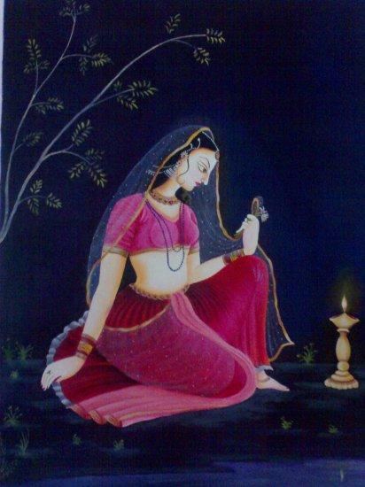 Ragini with Lamp