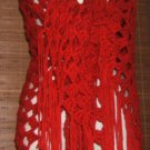 NEW HANDMADE CROCHET CLUSTER SHAWL RED