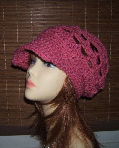 New Crochet Open Cluster Slouchy Newsboy Beret Hat Dust