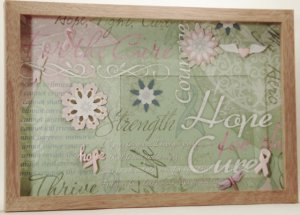 Breast Cancer Pink Ribbons Picture/Photo Frame 3539