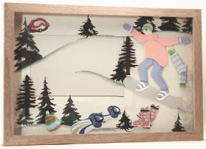 Snowboarding Picture/Photo Frame 8141