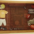 Yellow Football Uniform Picture/Photo Frame 29-013
