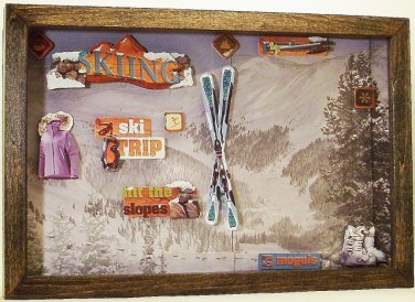 Skiing Picture/Photo Frame 8225