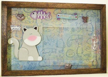 Grey Cat Picture/Photo Frame 25-025